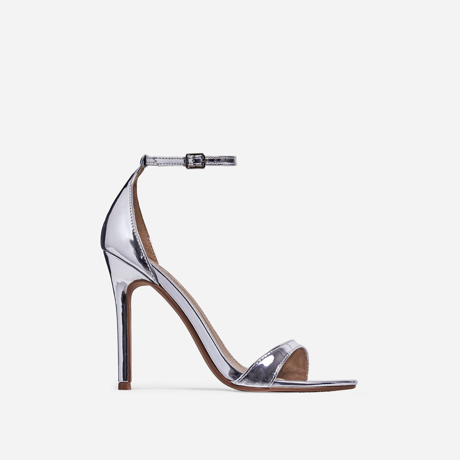 Archer Barely There Heel In Silver Patent