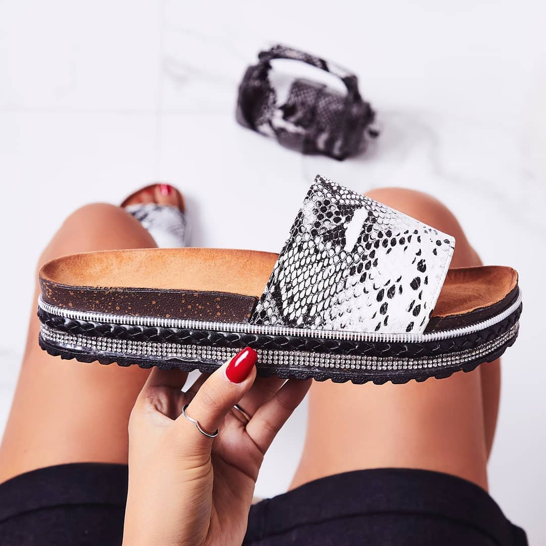 Calli Studded Detail Espadrille Sandal In Black Snake Print Faux Leather