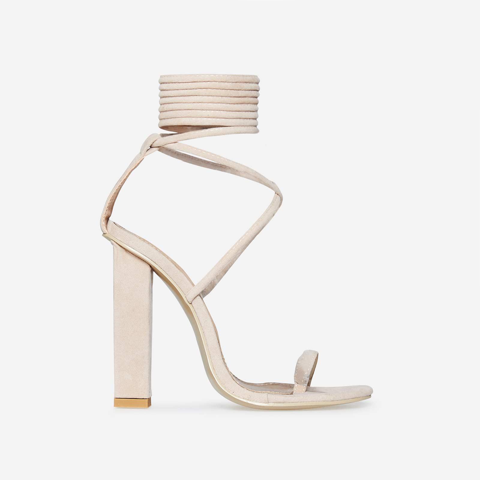 82fbae68ddb Lace-up High Heels - Knee High Tie Up   Black Styles