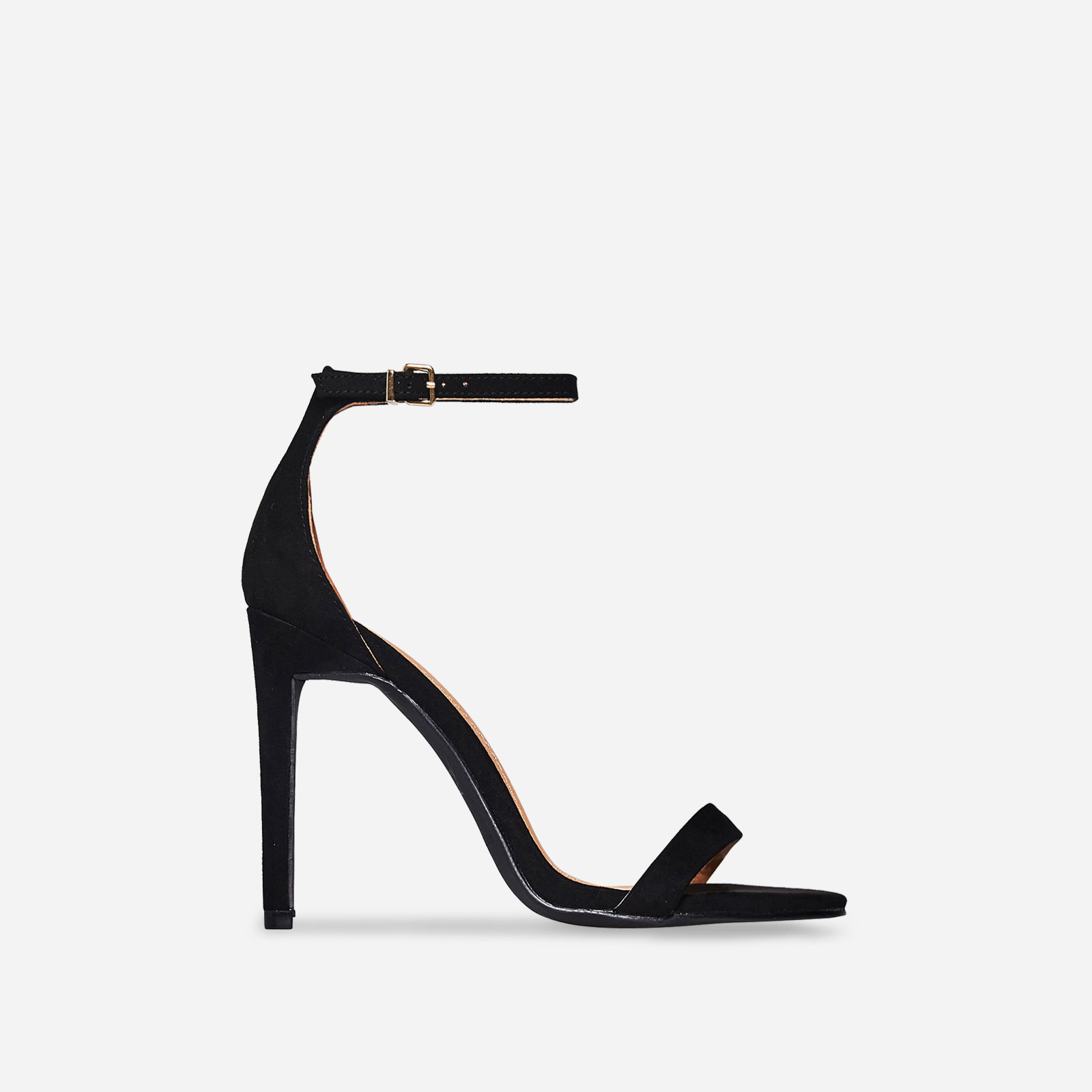 Angel Barely There Heel In Black Faux Suede Image 1