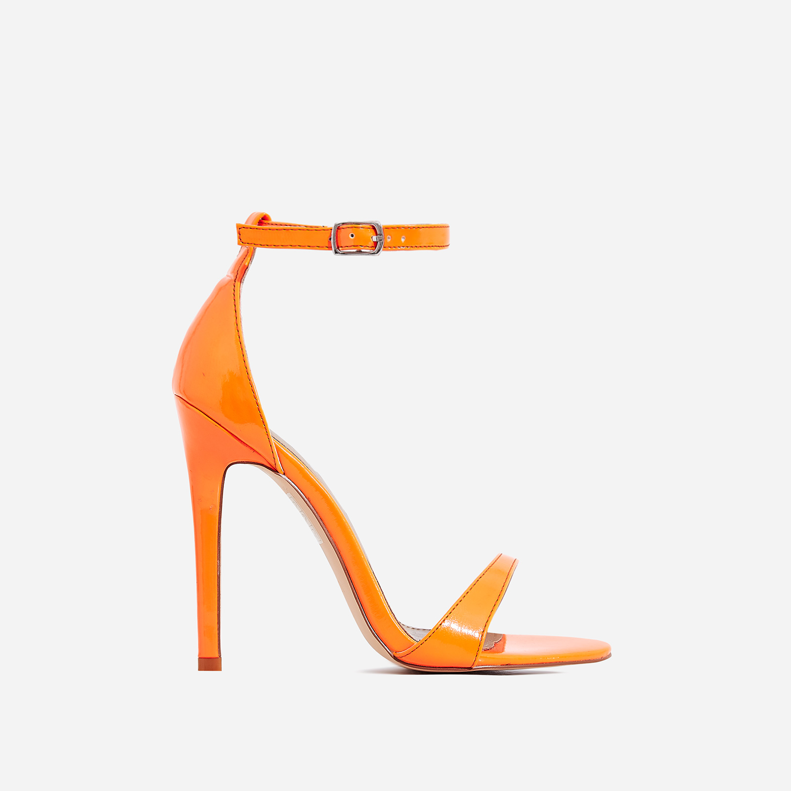 Archer Barely There Heel In Neon Orange Patent