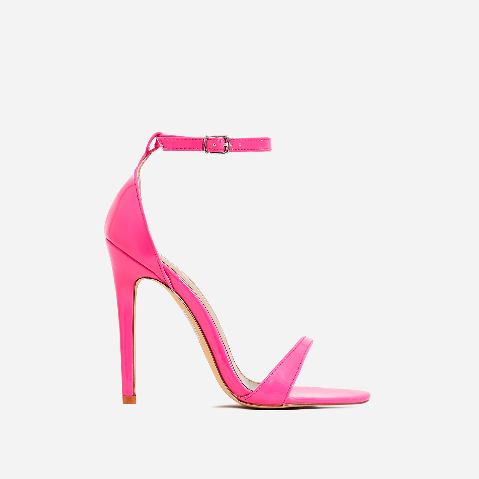 Archer Barely There Heel In Neon Pink Patent