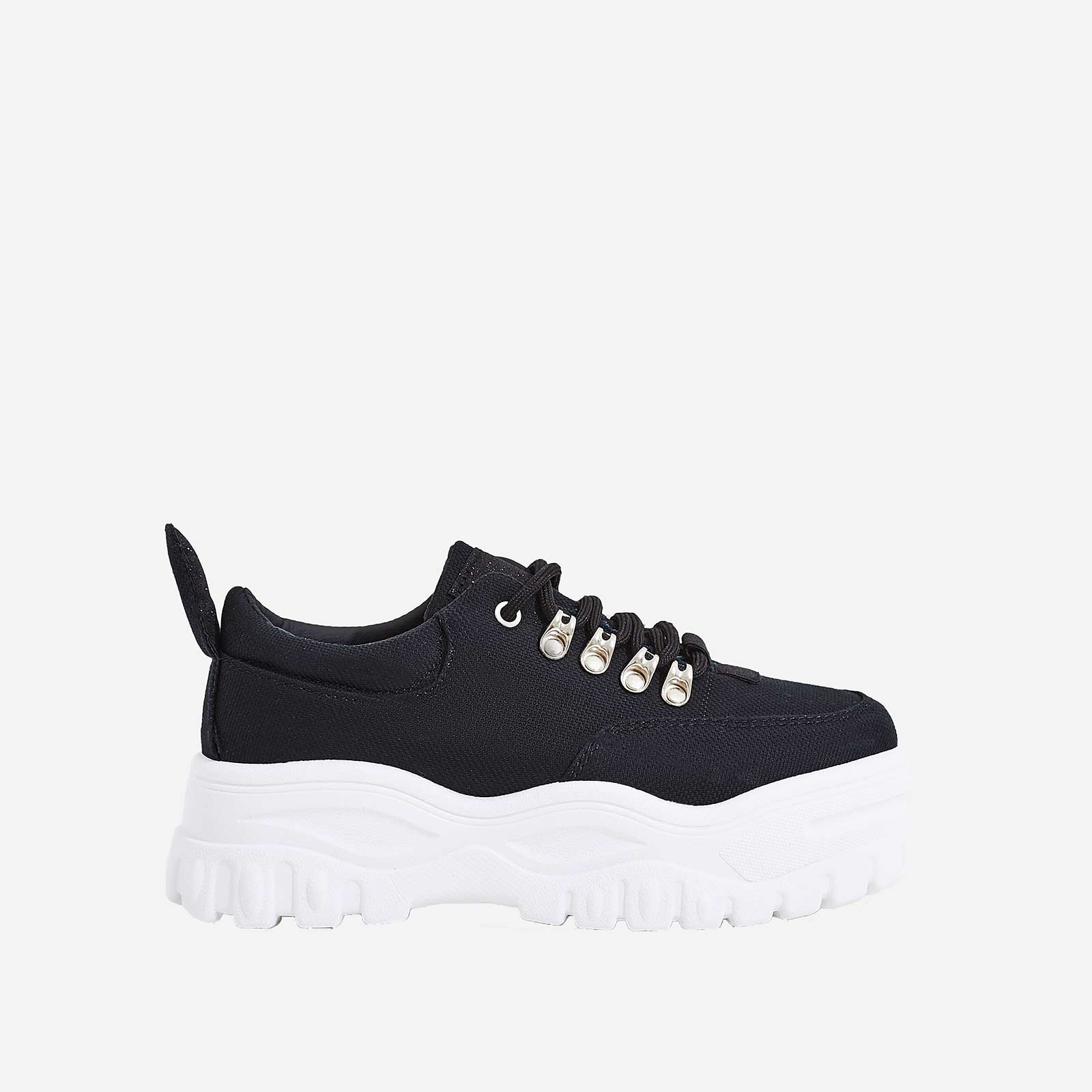 Maia Chunky Sole Trainer In Black