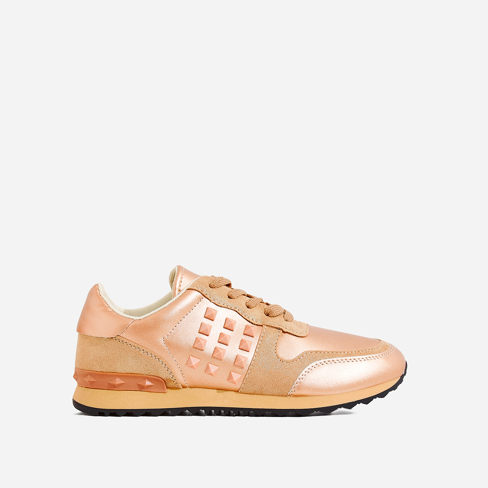 Camillo Studded Detail Trainer In Rose Gold