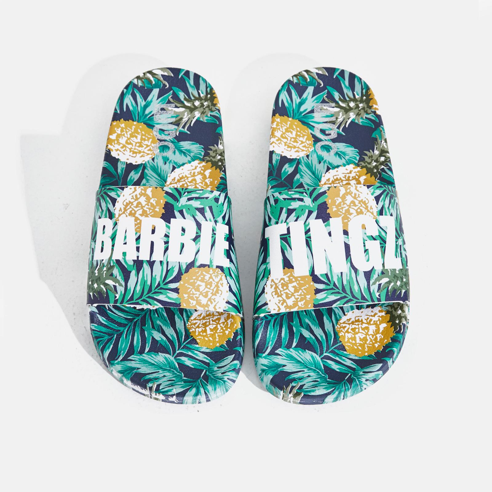 Happy Barbie Tingz Slider In Pineapple Print