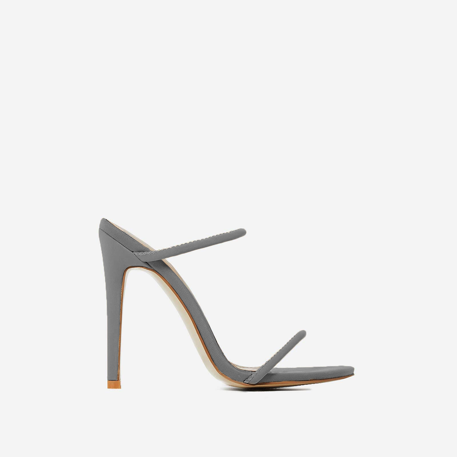 Helix Barely There Mule In Grey Lycra
