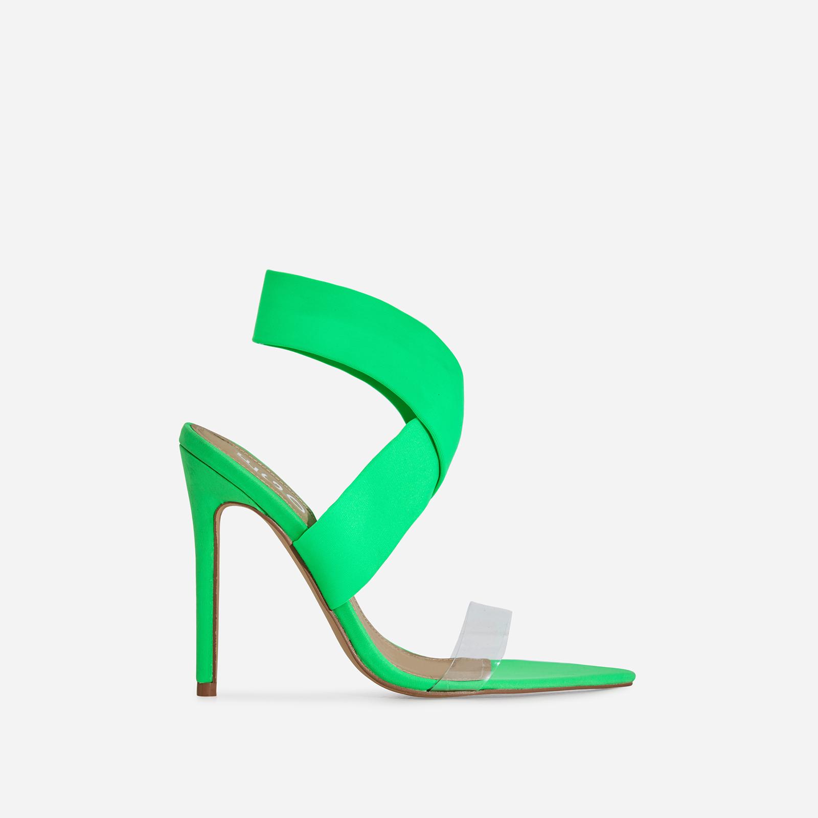 Joma Perspex Detail Heel In Green Lycra