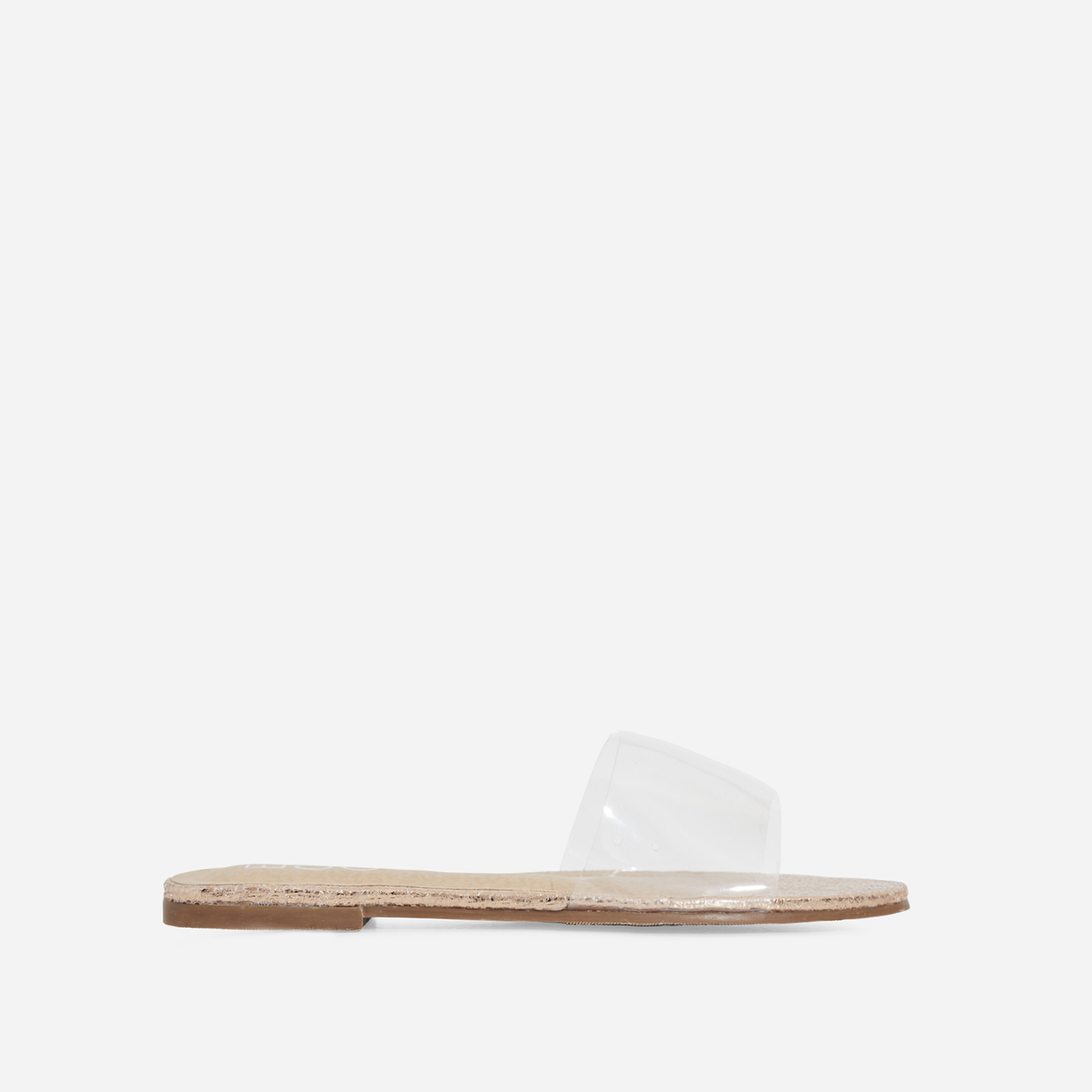 Kerrie Perspex Sandal In Rose Gold Faux Leather