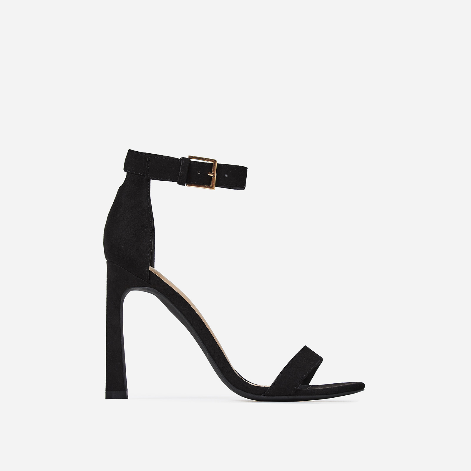Melrose  Barely There Flared Stiletto Heel in Black
