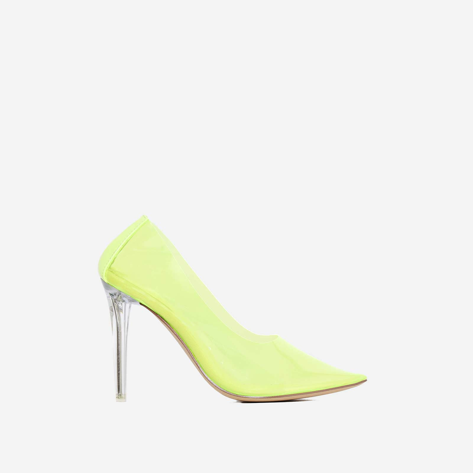 Nuclear Perspex Court Heel In Green