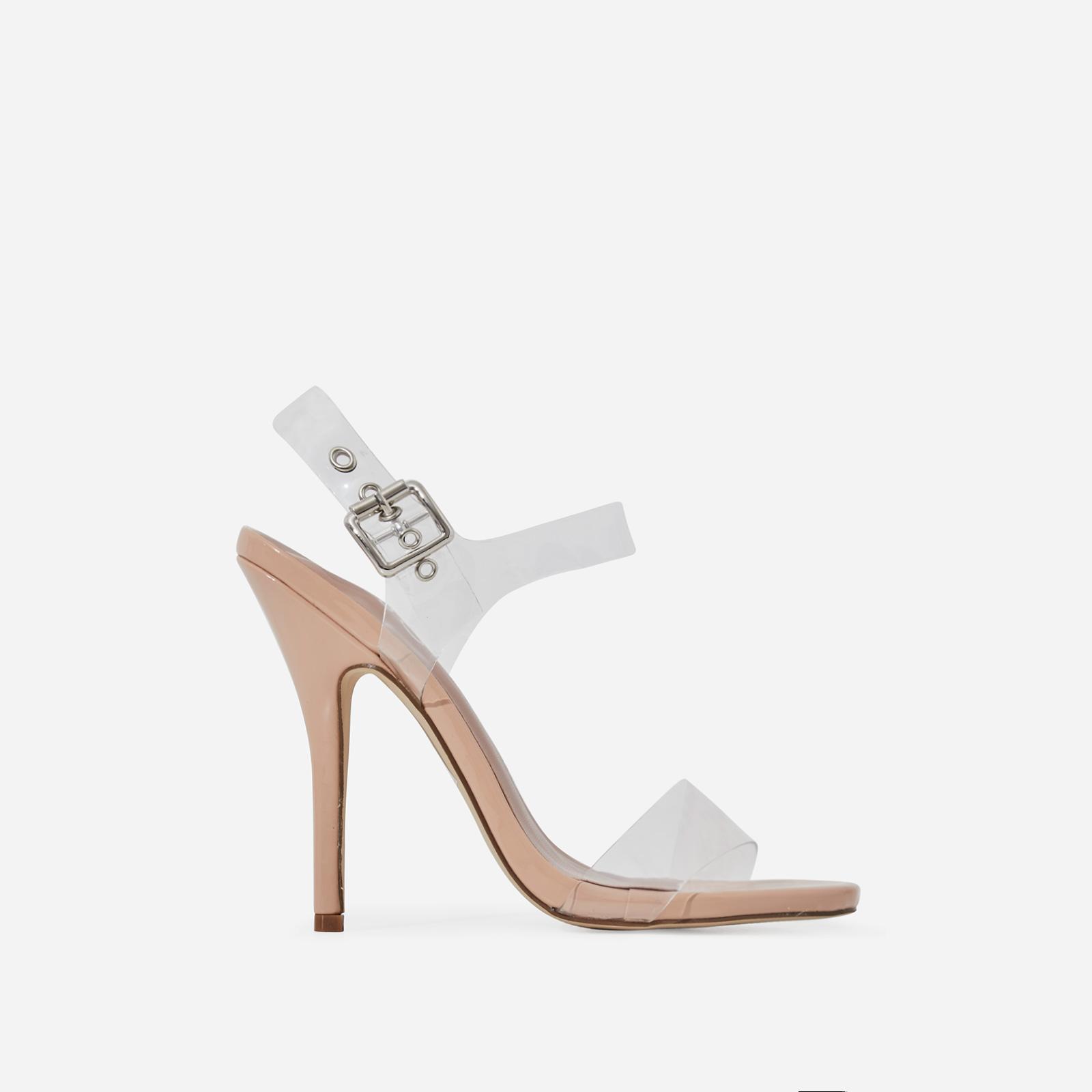 Opal Perspex Heel In Nude Patent