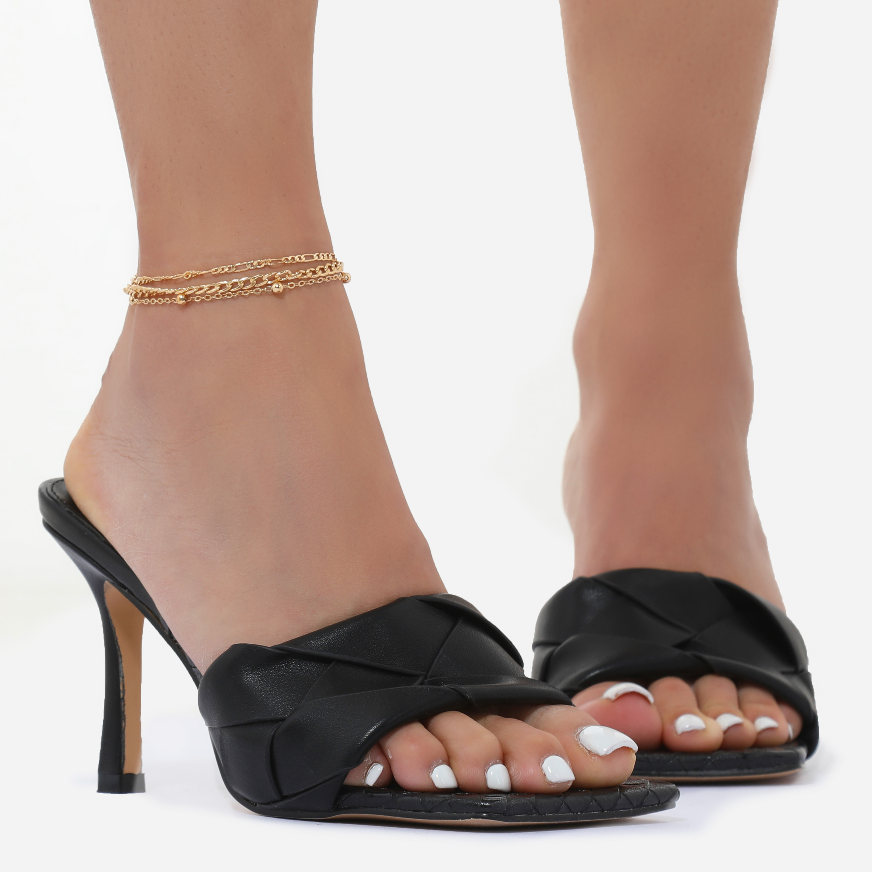 Multi Layer Anklet In Gold
