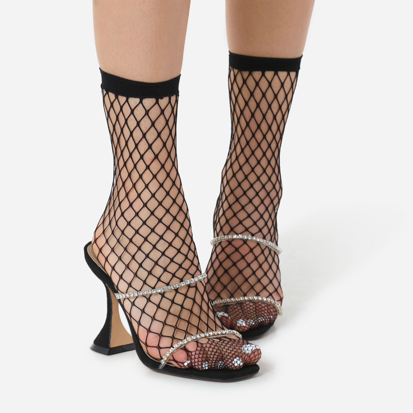 Socks In Black Fishnet