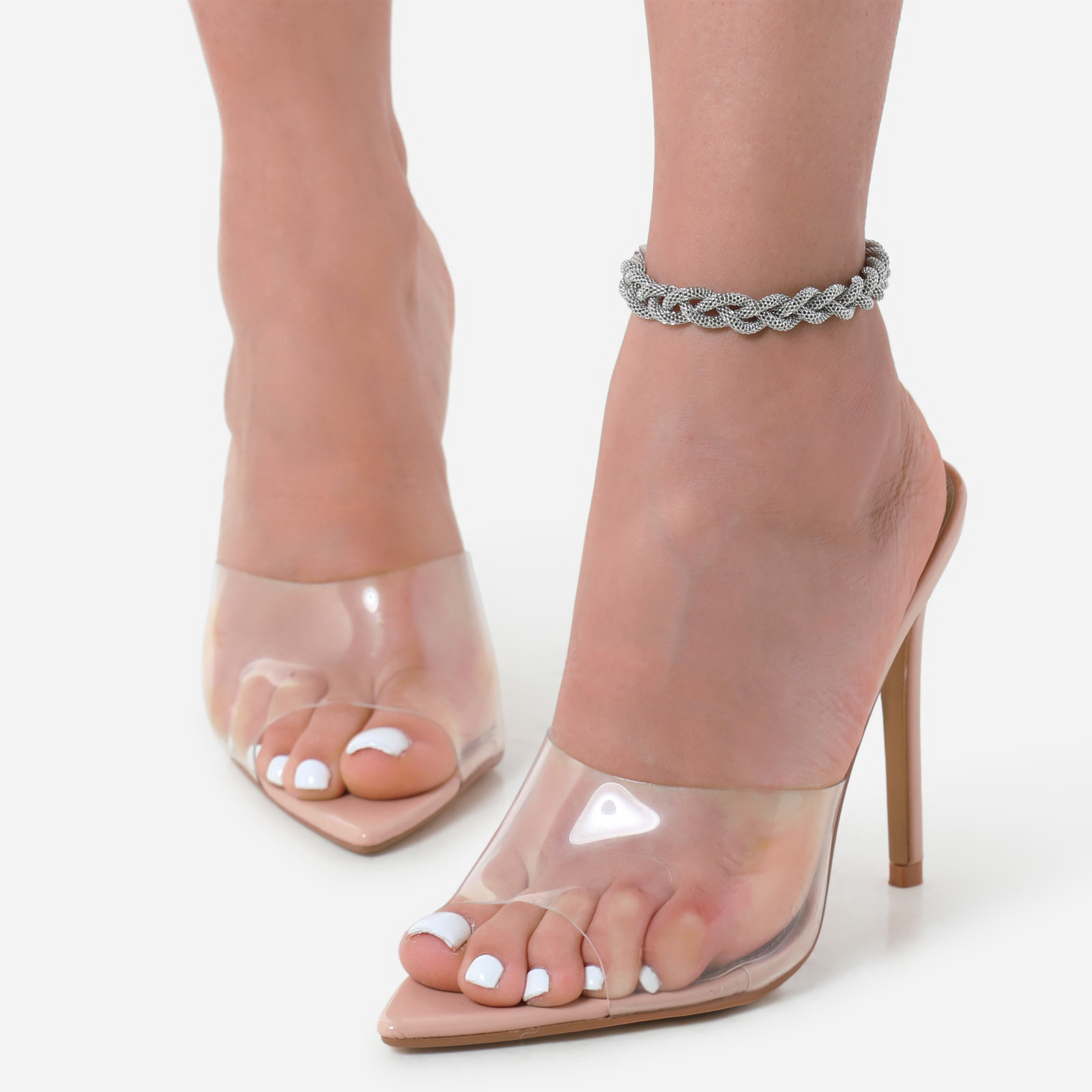 Twisted Chain Anklet In Silver