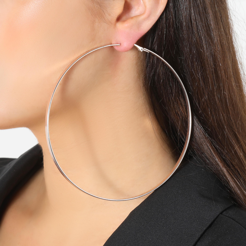 Oversized Hoop Earrings In Gold