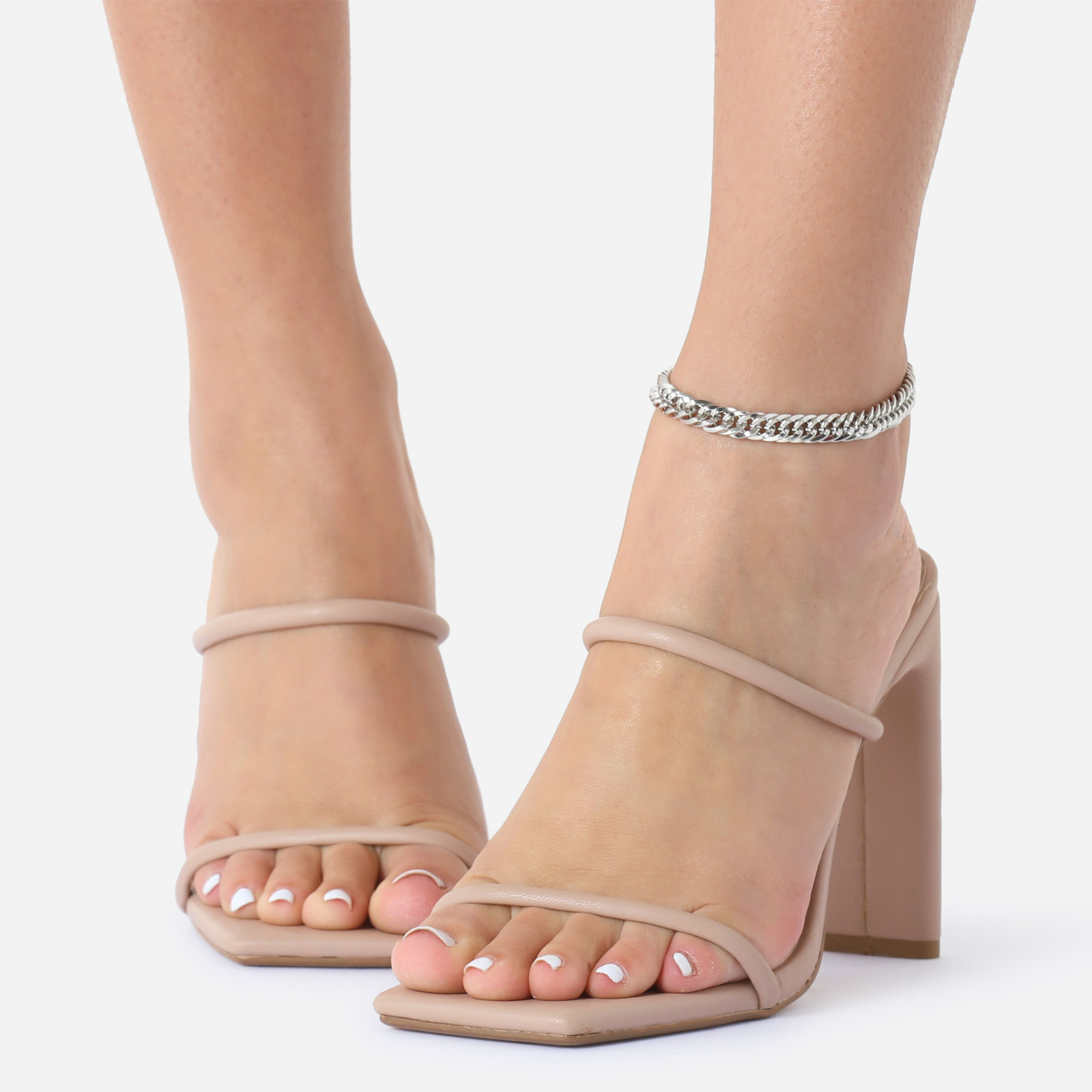 Delicate Chain Anklet In Silver