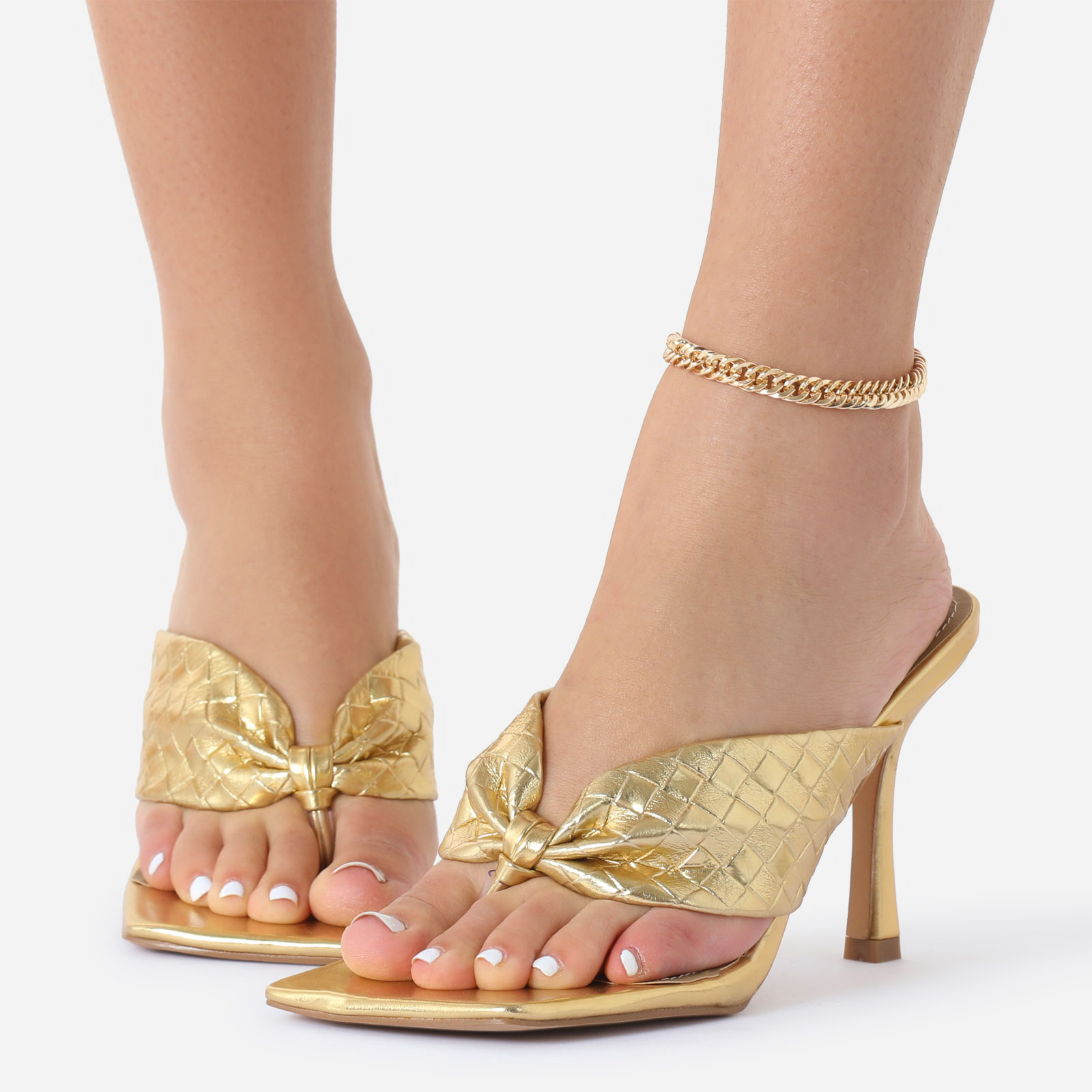 Delicate Chain Anklet In Gold