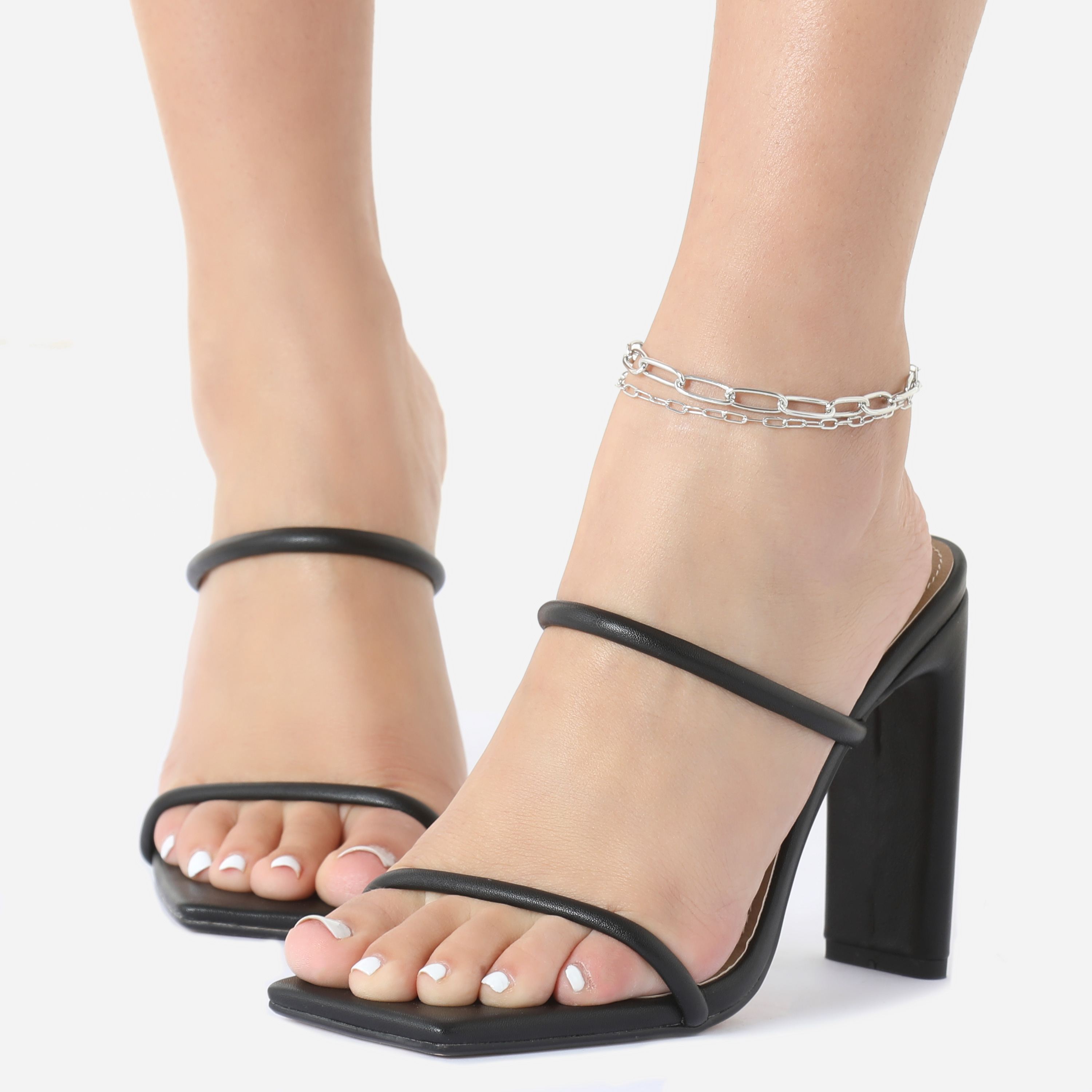 Multi Layer Chain Anklet In Silver