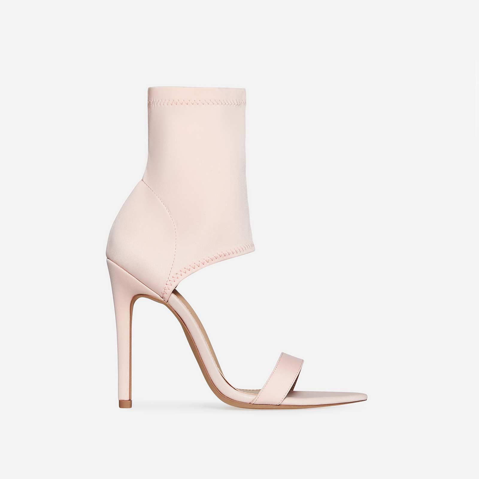 Stassi Pointed Cuff Heel In Pink Lycra