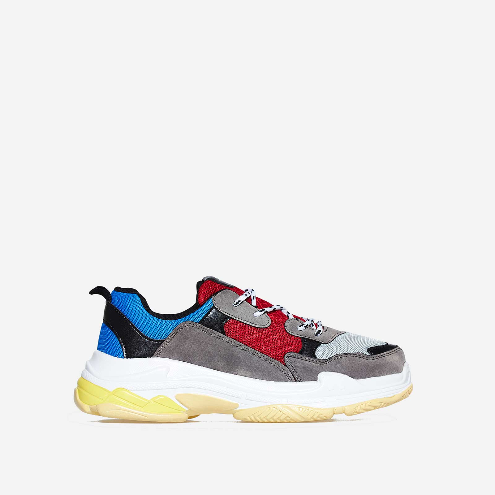 Edison Chunky Trainer In Blue And Red