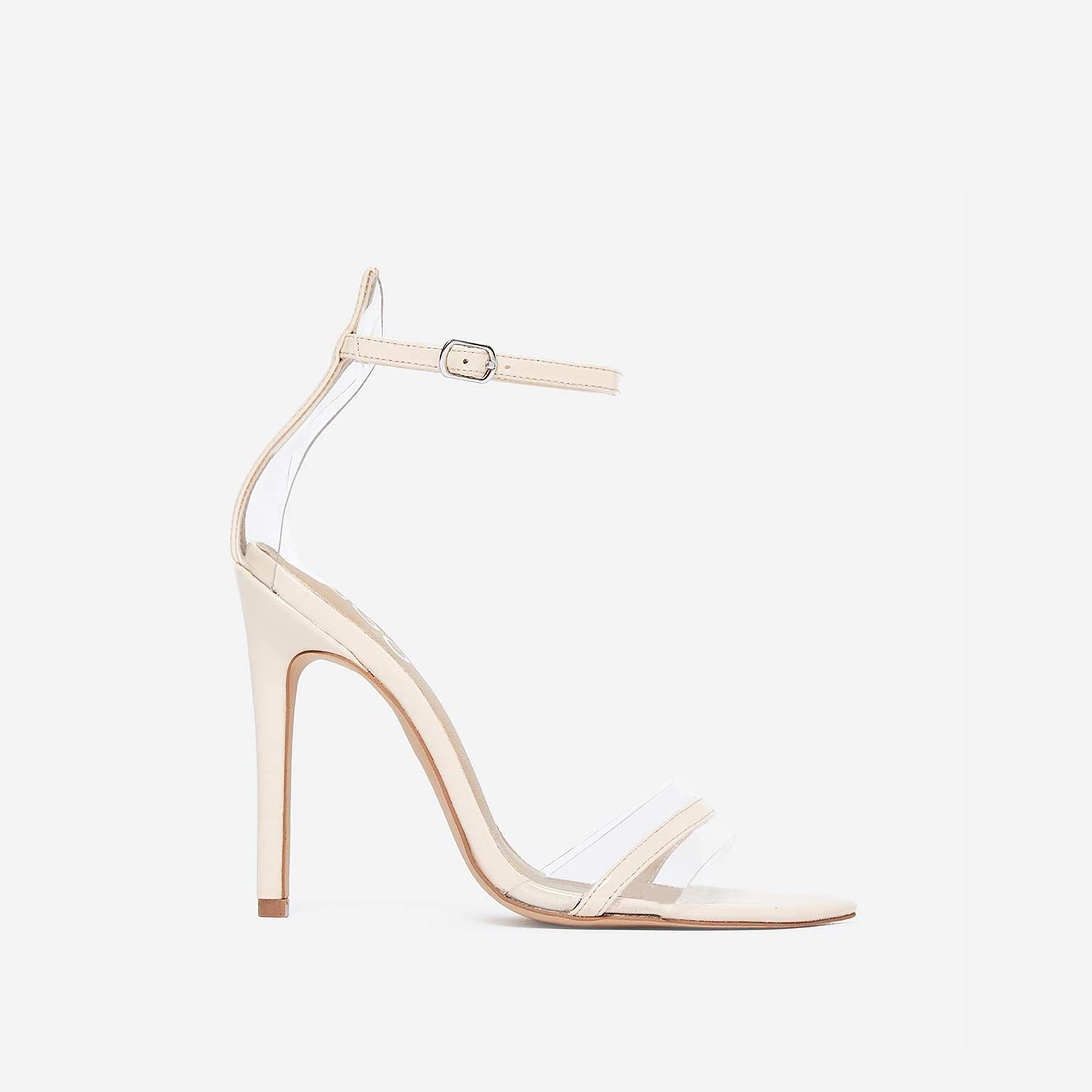 Tessy Perspex Heel In Nude Patent