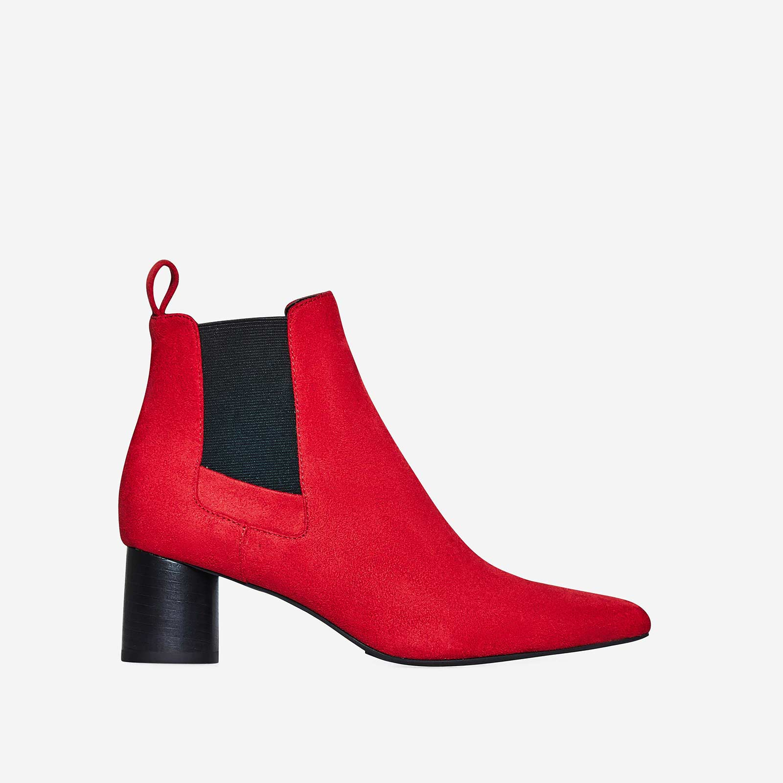 Toni Chelsea Boot In Red Faux Suede