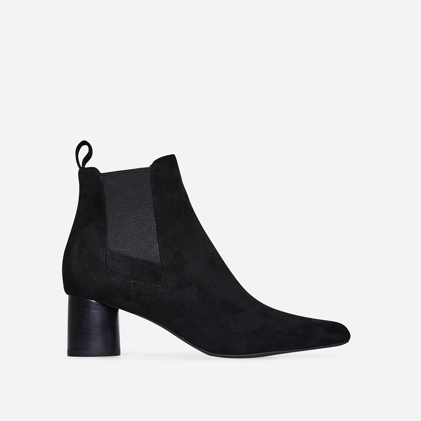 Toni Chelsea Boot In Black Faux Suede