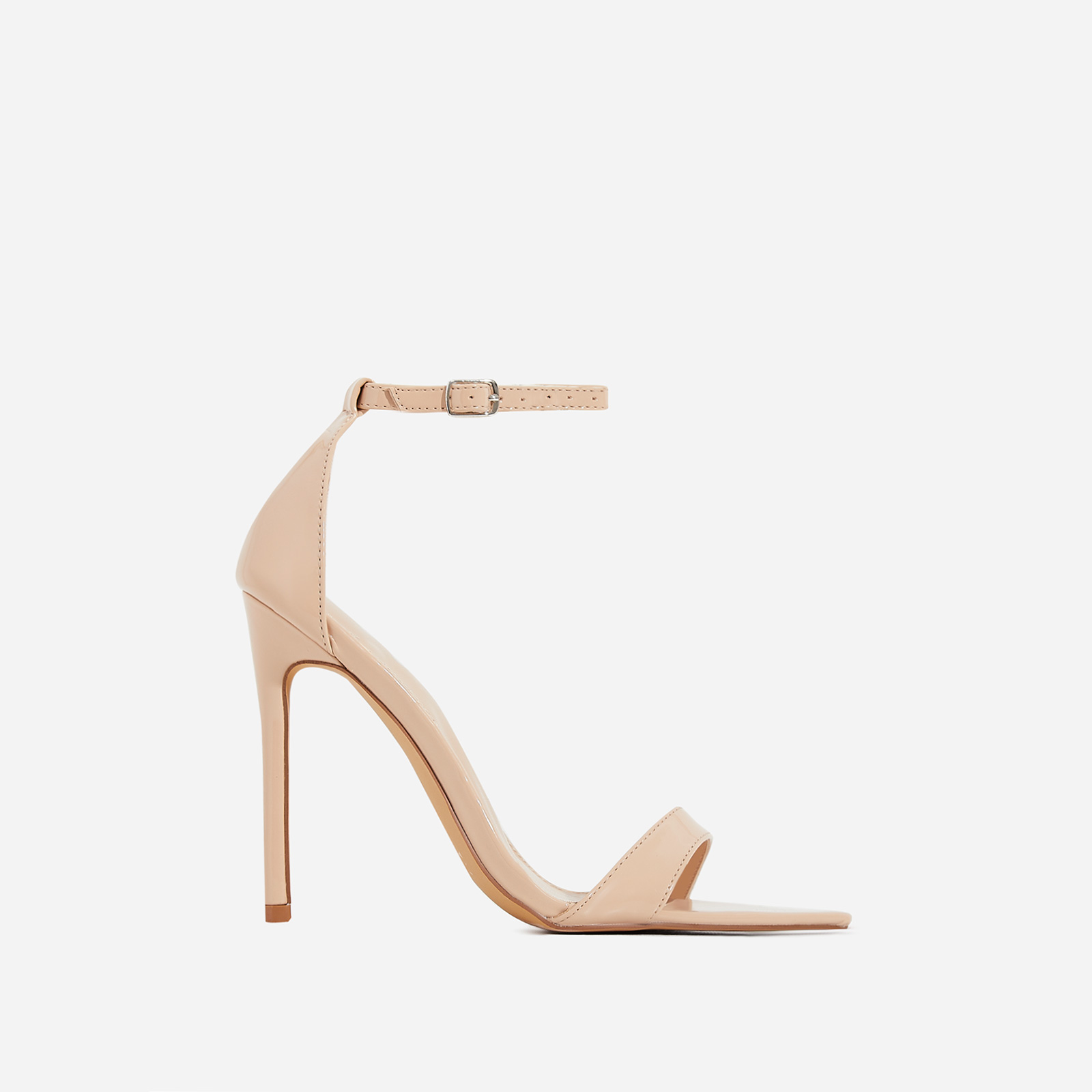 Trey Pointed Barely There Heel In Nude Patent