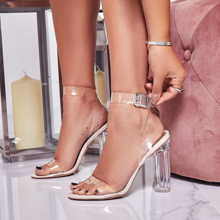 Ariana perspex heels ego shoes